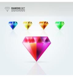 Diamond set vector