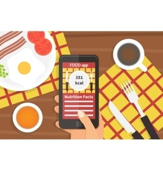 Diet food application calorie counter vector