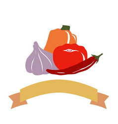drawing vegetables vector image