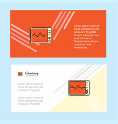 ecg abstract corporate business banner template vector image