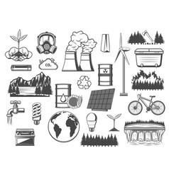 Environment green energy and power sources vector