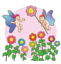 Fairy flowers vector
