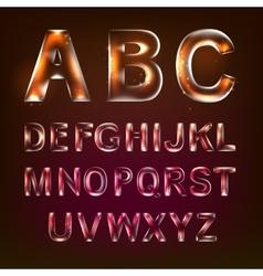 Font alphabet vector