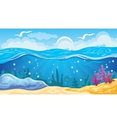 Game Seascape Background vector image