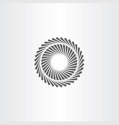 Geometric optic circle icon vector