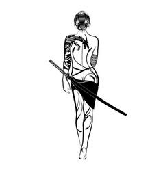 girl 15 vector image