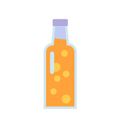 glass bottle with beverage vector image