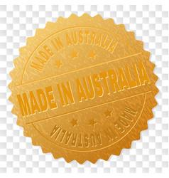 Golden made in australia medal stamp vector