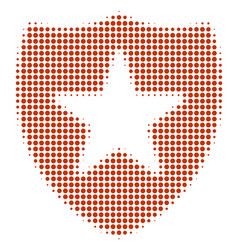 Guard halftone icon vector