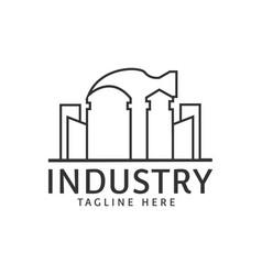 Hammer industry building real estate logo design vector