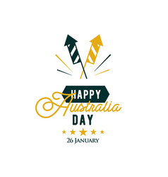 happy australia day 26 th january greeting card vector image