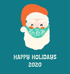 happy holidays 2020 greeting card template vector image