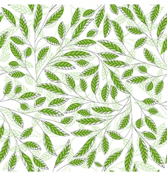 Leaf pattern green vector image