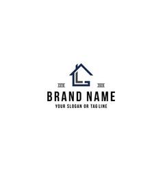Letter l home logo design vector