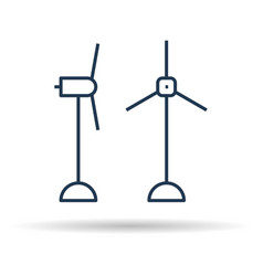 linear icon of eco two windmills vector image