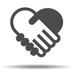 Love Handshake vector image