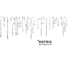 matrix white background binary digital vector image