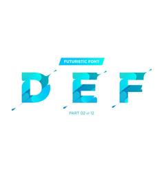 modern futuristic typeface design perfect vector image