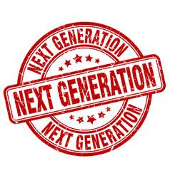 Next generation red grunge stamp vector