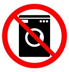 No washing machine icon vector