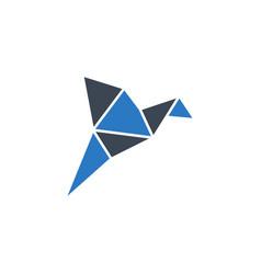origami bird related glyph icon vector image