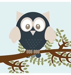 owl bird vector image