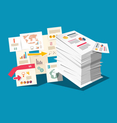 Paperwork concept with business documents and vector