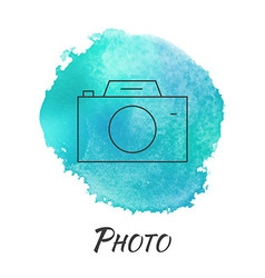 Photo Camera Watercolor Concept vector