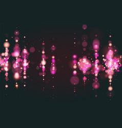 pink bokeh sparkle glitter lights luxury glamor vector image