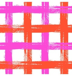 plaid pattern with crossing wide stripes in bright vector image