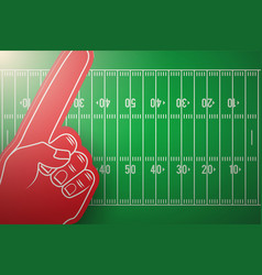 Posters of american football field and fun finger vector