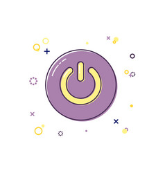 power button color icon vector image