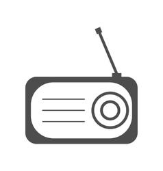 Radio flat icon silhouette vector image