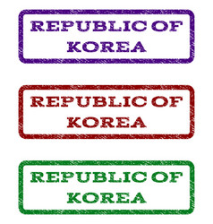 republic of korea watermark stamp vector image