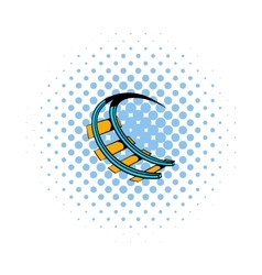 Roller coaster ride icon comics style vector image