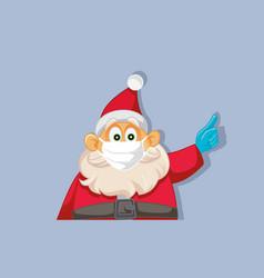 Santa claus wearing medical face mask vector