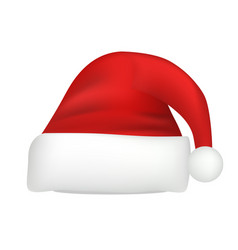 santa hat icon realistic style vector image
