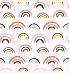 scandinavian pattern creative barainbow print vector image
