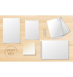 Set of paper sheets vector