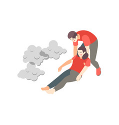 Smoke poisoning aid composition vector