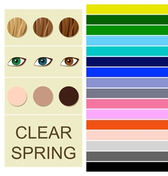 Stock seasonal color analysis palette vector