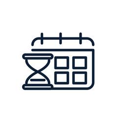 time hourglass calendar reminder clock linear vector image
