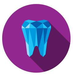 Tooth symbol icon vector