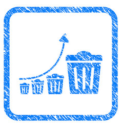 Trash growing trend framed grunge icon vector