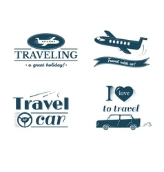 Travel logo and label set typography design vector image