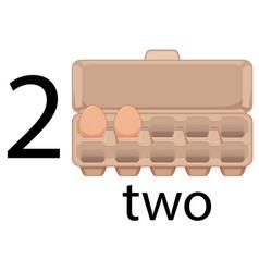 Two egg in preschool school vector
