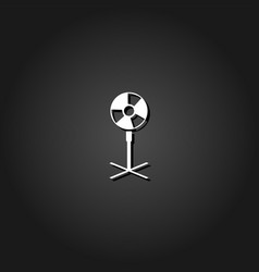 ventilator blower propeller icon flat vector image