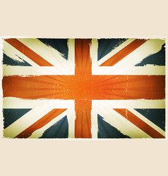 vintage english flag poster background vector image