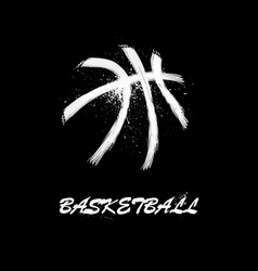 White grunge basketball vector