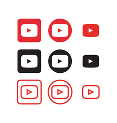 Youtube social media icons vector